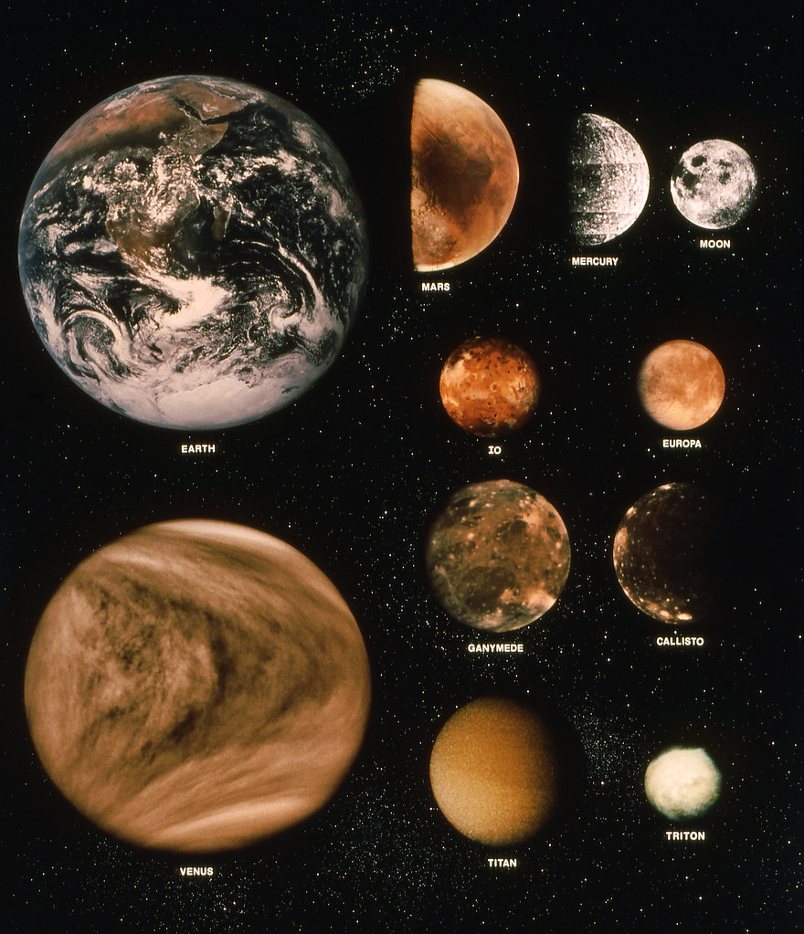 Planets and Moons | This montage of photographs taken by ...