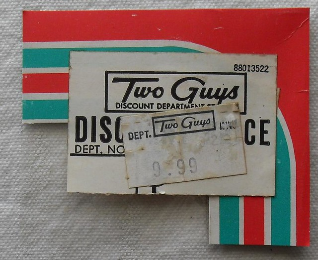 1960s TWO GUYS 1970s vintage department store price tags ...