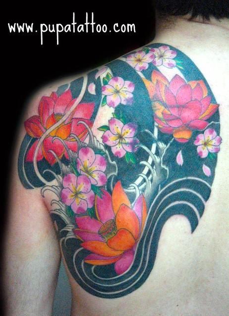 Tatuajes Flores Japonesas tatuaje flores japonesas pupa tattoo granada | pupa tattoo a… | flickr