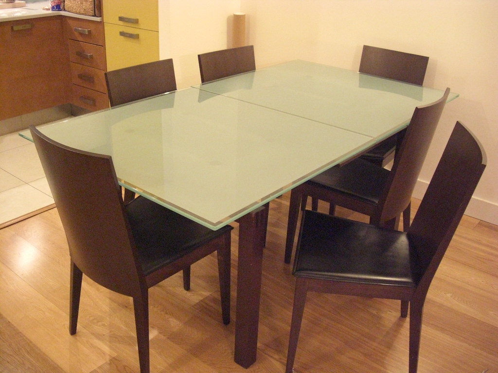 Frosted Glass Dining Table Wakosan Flickr - Frosted glass kitchen table