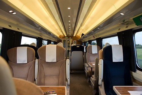 Interior Of A First Class Carriage On The East Coast Rail