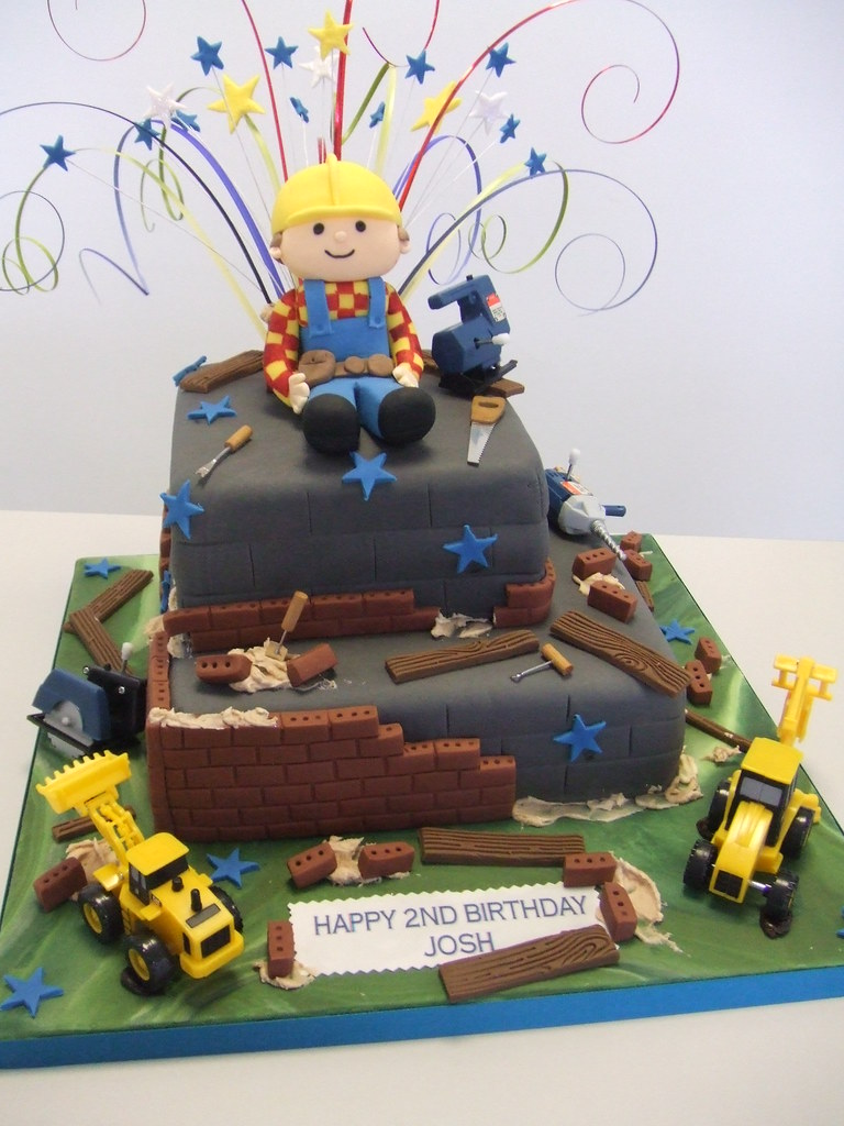 Bob The Builder 2 Tier Cake For A Little Boys 2nd Birthday