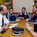 Inspector Matthew Reiss with Ross County players