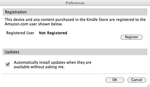 Kindle for Mac Preferences Dialog | by gruber