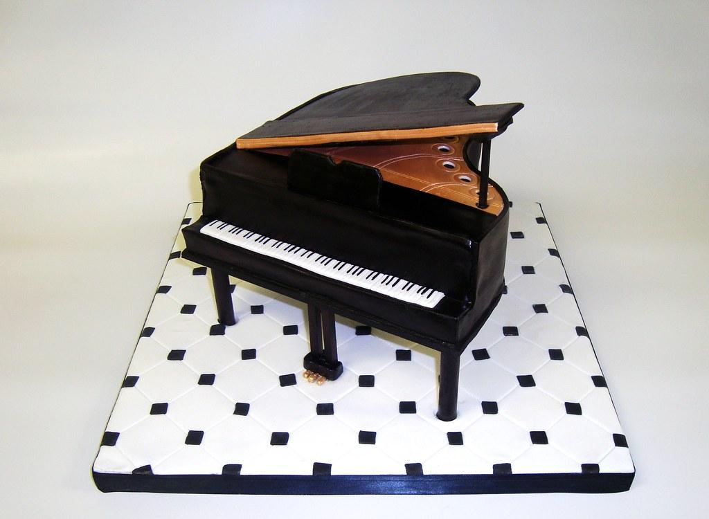 Baby Grand Piano Cake Template