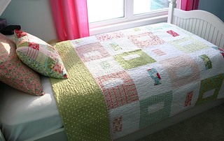 Swell Quilt on bed | by twinfibers