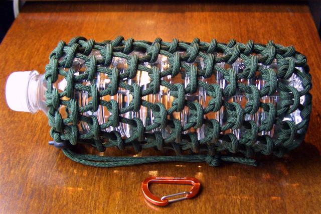 0 5 liter water bottle and paracord pouch 40 feet of for How to make a paracord bag