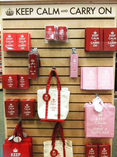 "Hoooray! Our ""Keep Calm And Have A Cupcake"" designs now available at a Barnes and Noble near you!! :) 