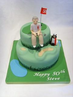 50th Birthday Golfing Cake Golfing Birthday Cake Www