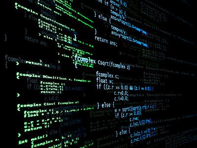 digital program code digital language code from a computer