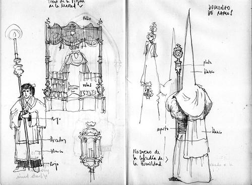 Semana Santa Sevilla Colorear: Characters From A Spanish Palm