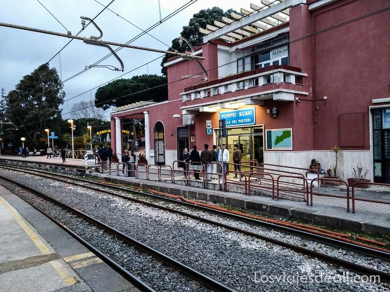 visita a Pompeya estación Pompei Scavi