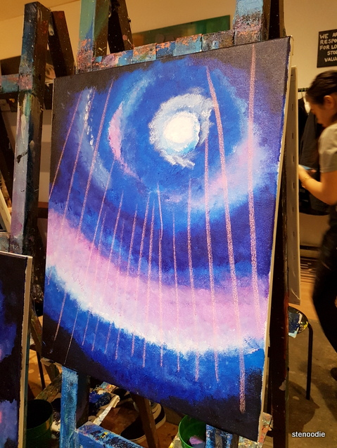 Northern Lights painting process