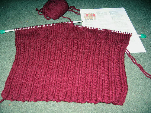 Cabled Tabard Knit in Sirdar Click Chunky on 6.5mm needles? Flickr