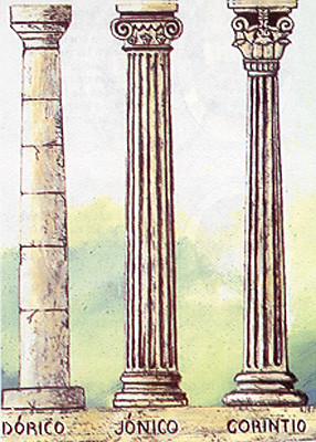 Resultado de imagen de dórico jónico corintio