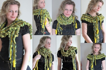 Pdf Crochet Pattern Lana Fashion Scarf This Listing Is For Flickr