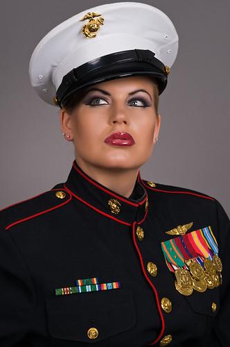 Elegant Female Marine Dress Blues  Car Interior Design