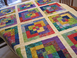 Rainbow batik quilt | by tin whistle