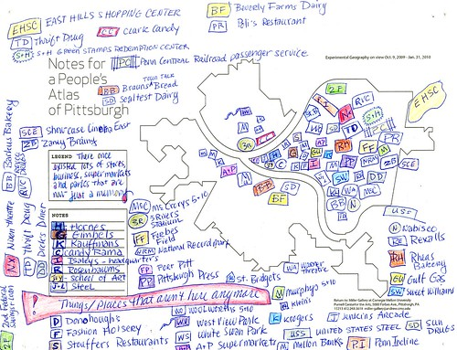 Notes for a People's Atlas of Pittsburgh (AREA Chicago in Experimental Geography) | by Miller Gallery at Carnegie Mellon University