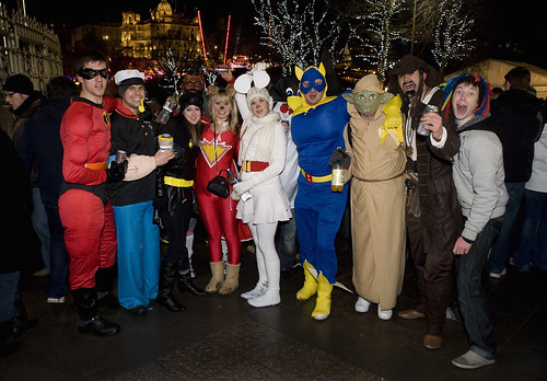 Characters at Hogmanay | by VisitBritain Images