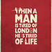 Samuel Johnson London Quote Poster