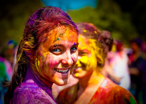 Holi festival : beautiful painted girl | by tibchris