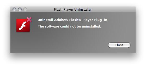 Uninstall Adobe® Flash® Player Plug-in
