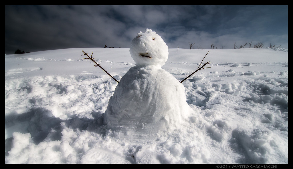 scary snowman spring is knocking matteo cargasacchi flickr