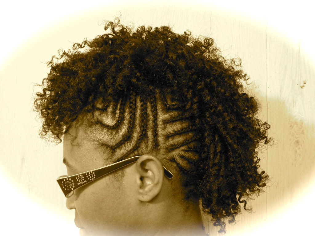 Rock the mohawk!! Mohawk/braids/straw set!! All her hair!!… | Flickr