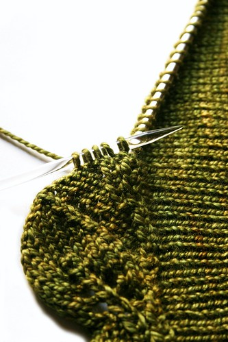 Cedar Leaf Knit on Border | by nevernotknitting