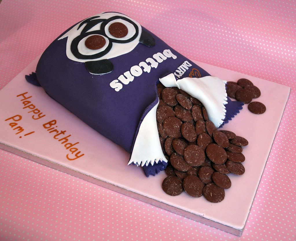 Cadburys Buttons Cake A 50th Birthday cake made for a lad Flickr