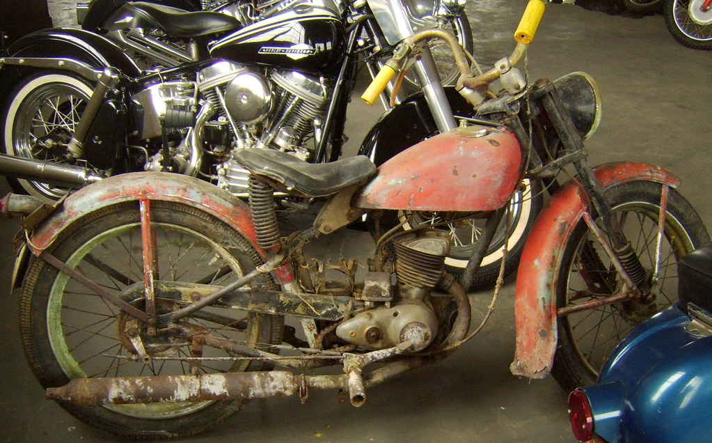 1959 Harley Davidson Model 165 Old Milll Motorcycle Museu