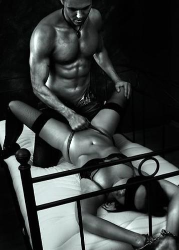 Tied erotic wife