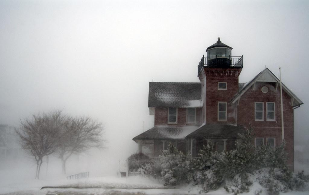 Sea Girt Lighthouse in storm | Henry Bossett | Flickr