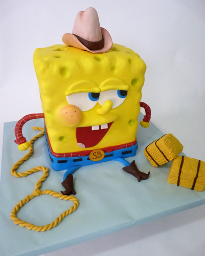 Spongebob Cowboy | by Tuff Cookie cakes by Sylvia
