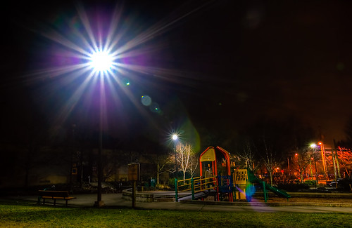 Lens Flare HDR @ TT Minor, Capitol Hill, Seattle | by Michael Holden