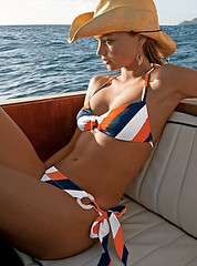 orange and blue striped bikini | by ...love Maegan