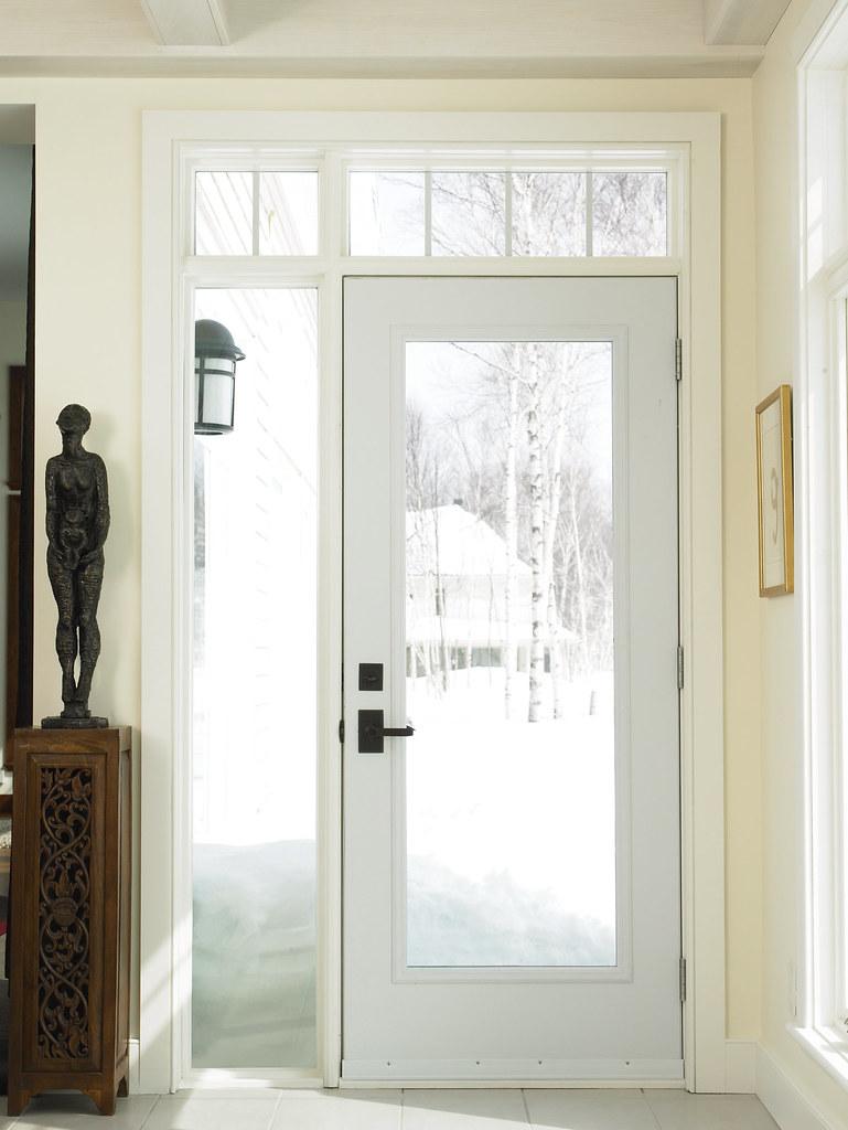 Porte d 39 entr e en acier jeld wen portes ext rieures - Porte d entree vitree pas cher ...