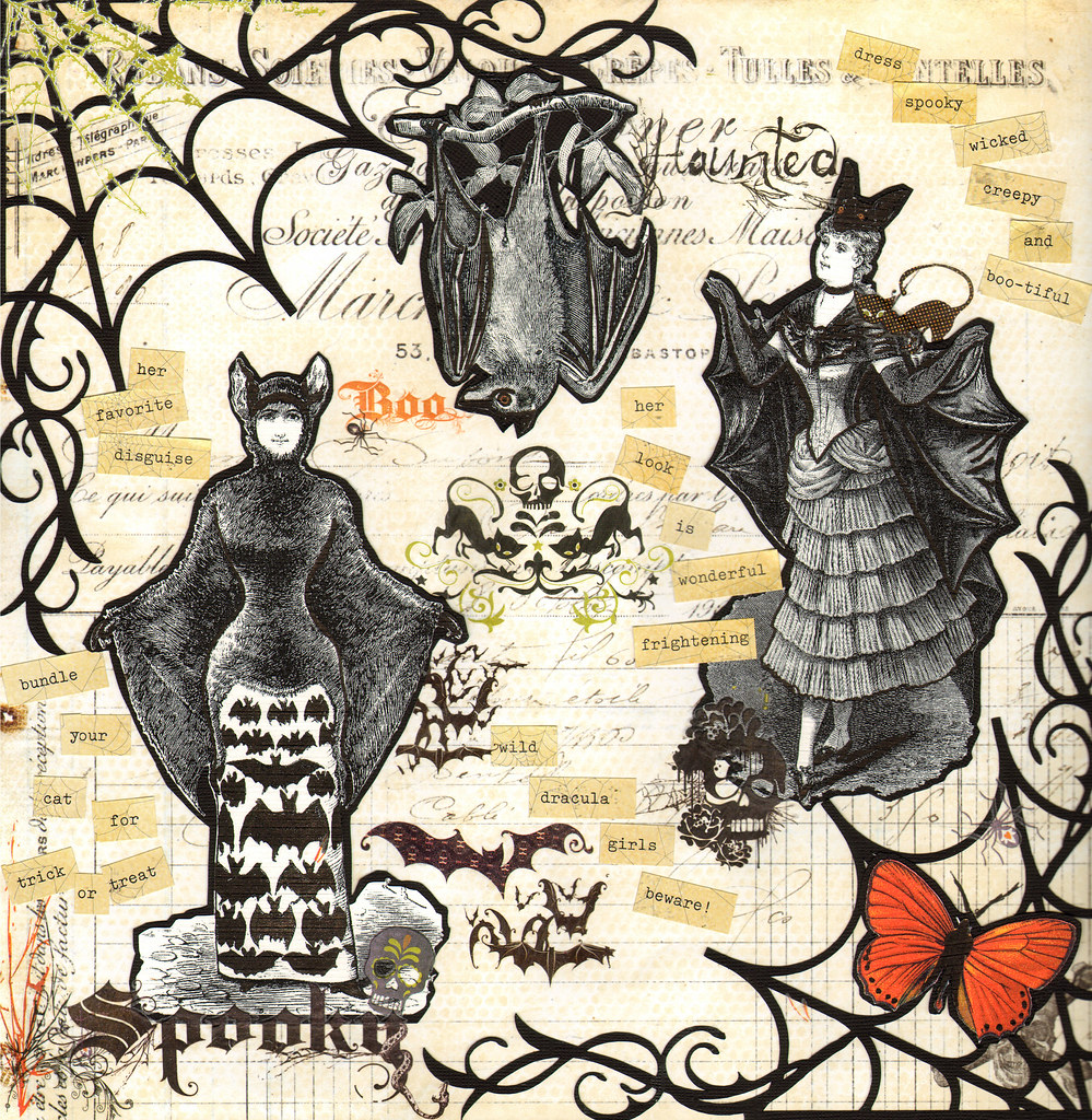 victorian halloween | silhouette image used: spider_web_flou… | flickr