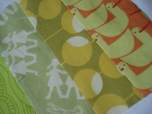 colour baby quilt top detail | by little nollie