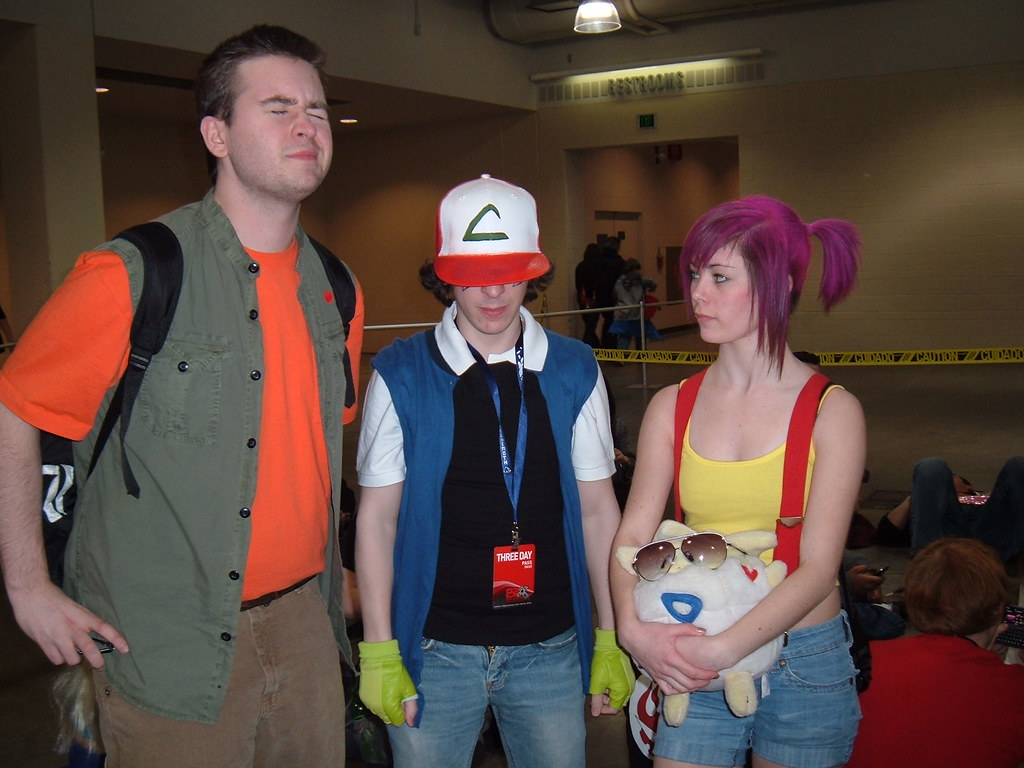 Pokemon cosplay   Ash, Brock, and Misty together. Funny ...