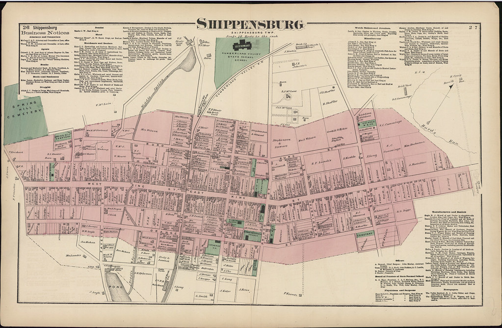 Map Of Shippensburg Cumberland County Pennsylvania 187