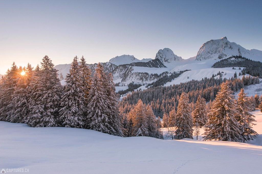 Winter sunrise - Gantrisch