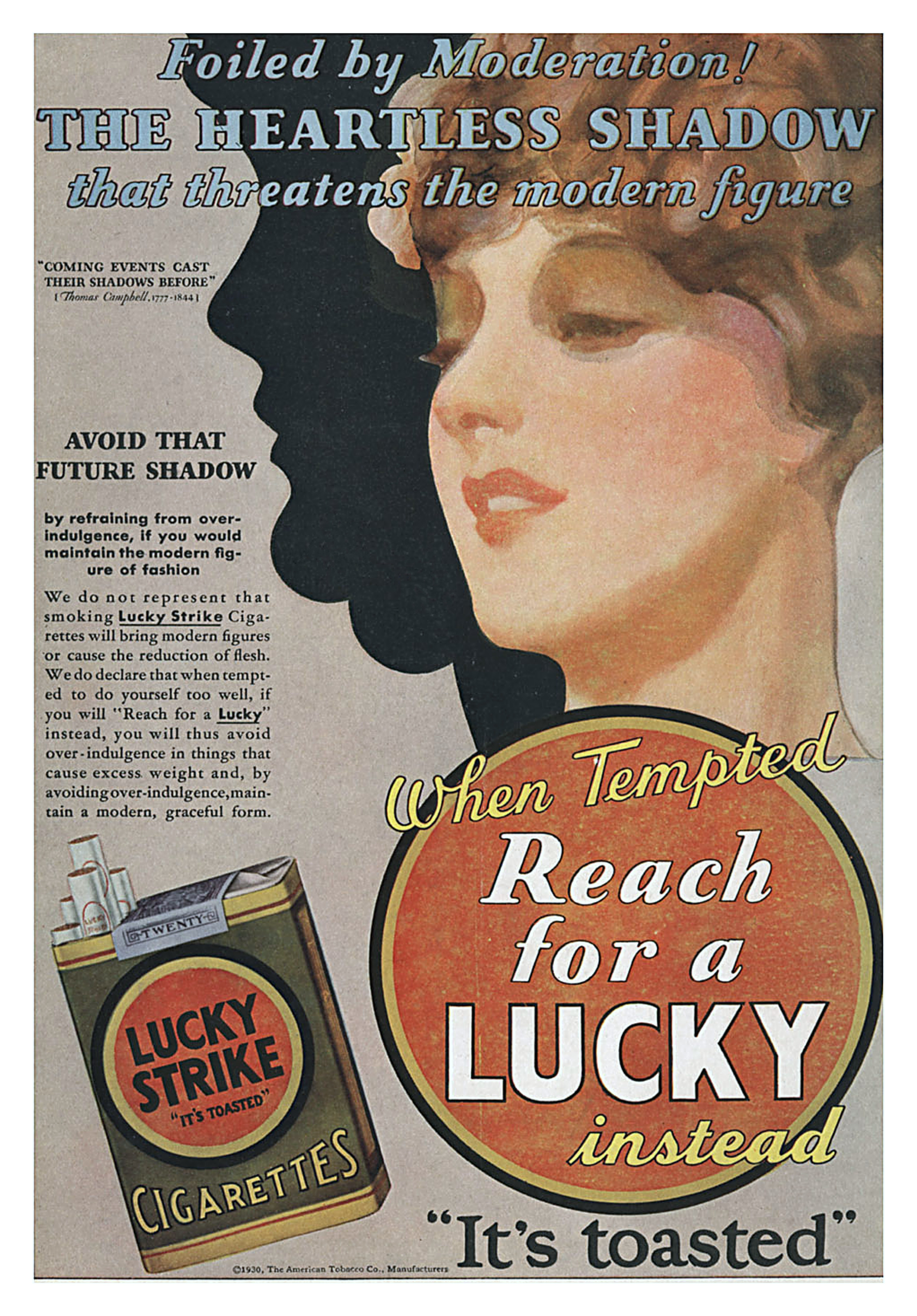Lucky Strike Cigarettes - 1930