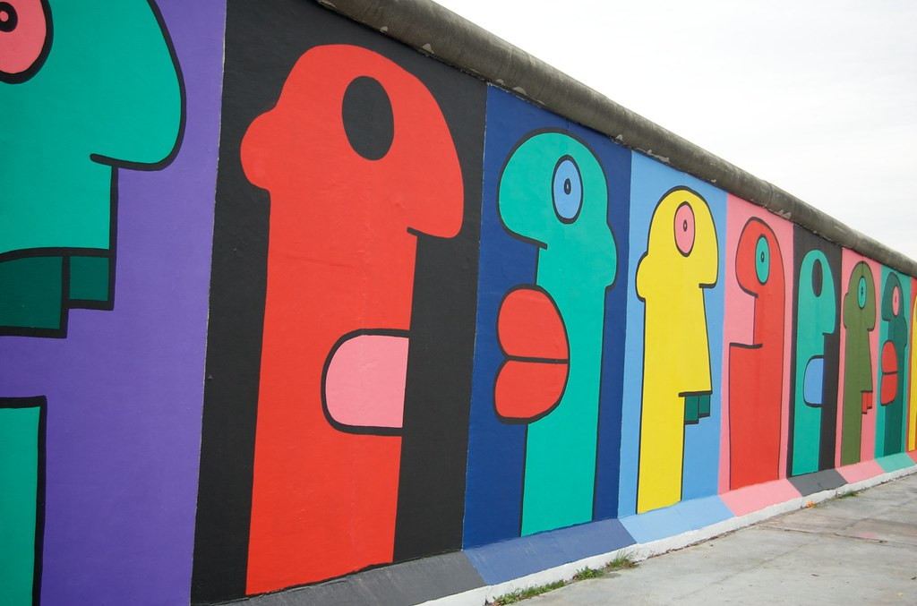 Thierry Noir Untitled This Section Of The Wall Was