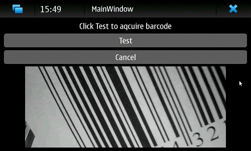 Bar Code Tester : Barcode first test of the informed individual