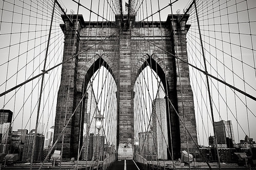 Brooklyn Bridge (B&W), NYC | by Francisco Diez