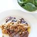 bbq steak with toasted breadcrumb salsa