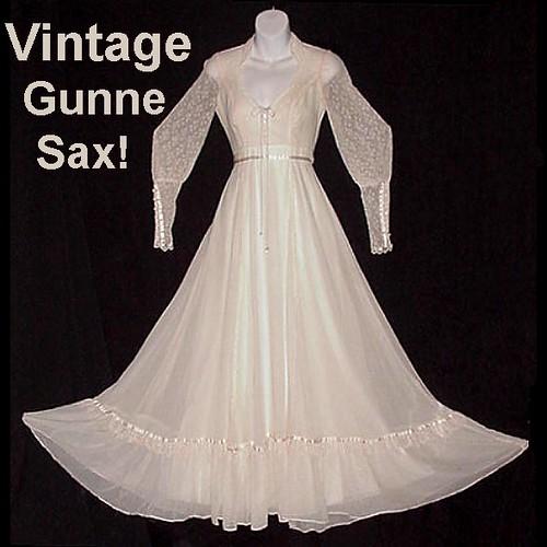 Gunne Sax Vintage Prom Gown Or Bridal Maxi Bohemian Fair