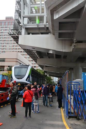 台中捷運綠線電車:文心森林公園站展示